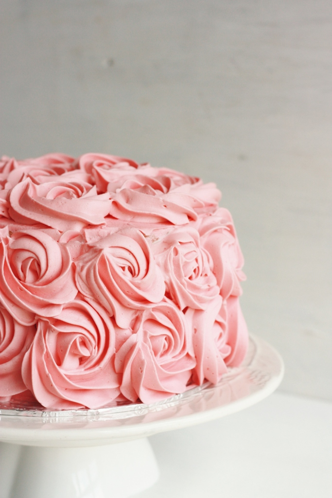 Rose cake with Swiss meringue buttercream   Foodolicious ...