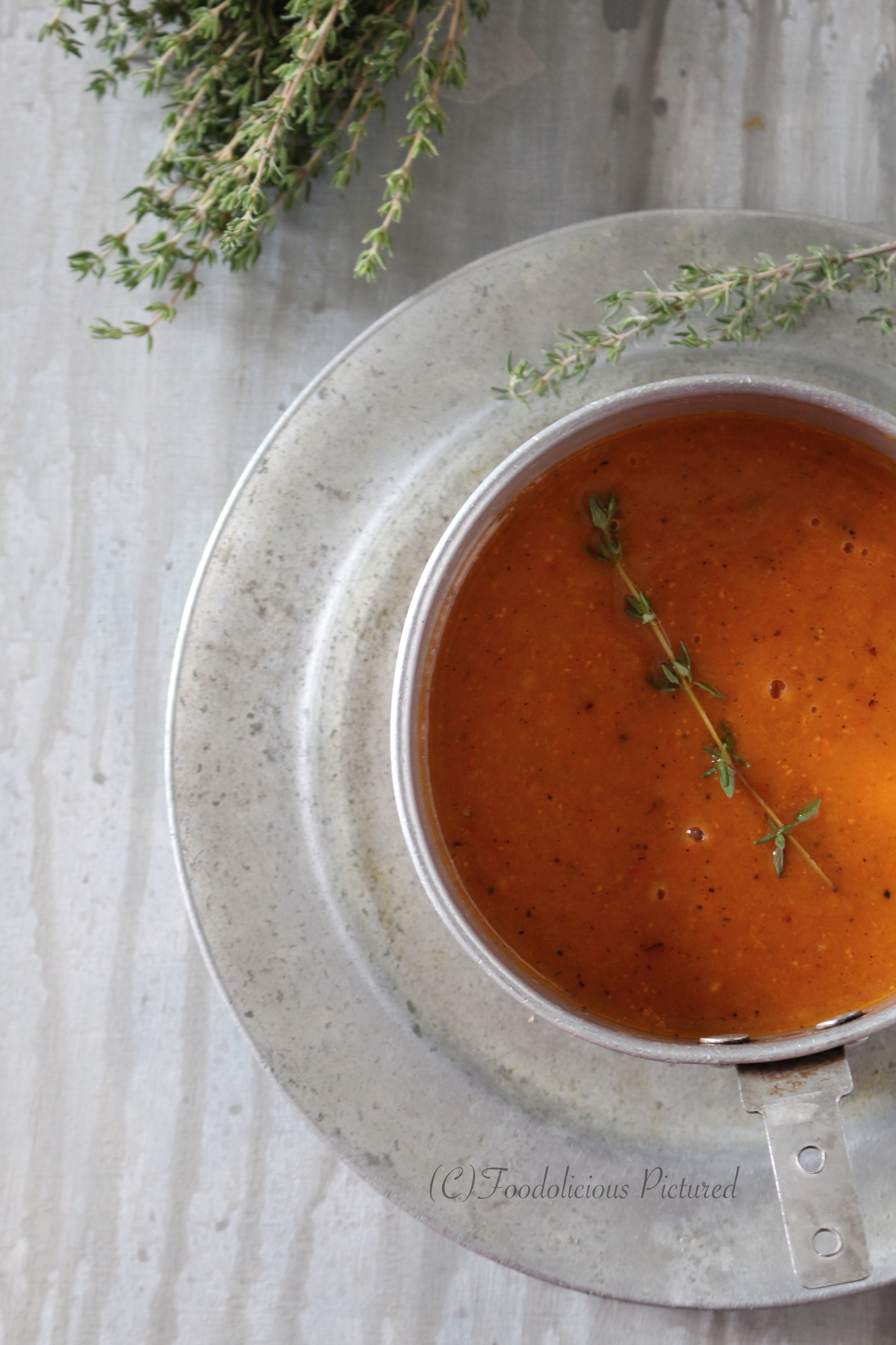 Roasted butternut squash and bell pepper soup ...