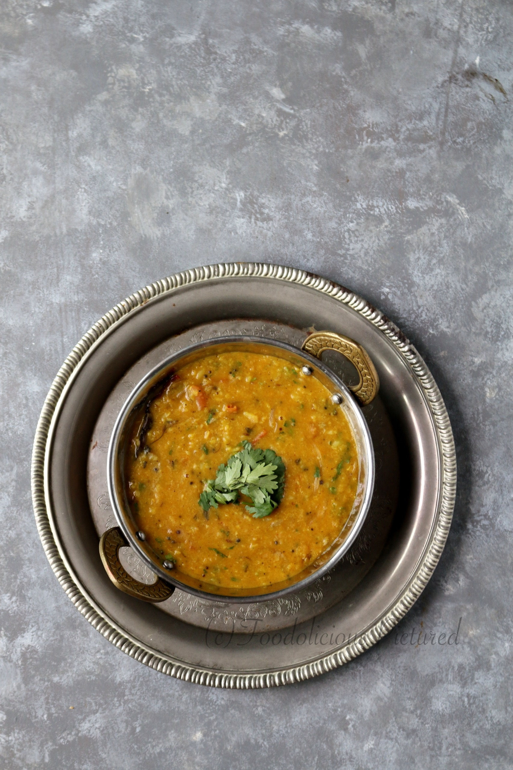 Dal fry Foodolicious Pictured