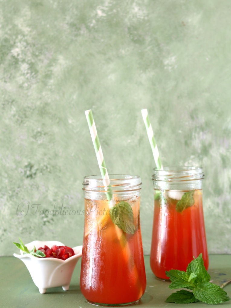 Iced Pomegranate tea