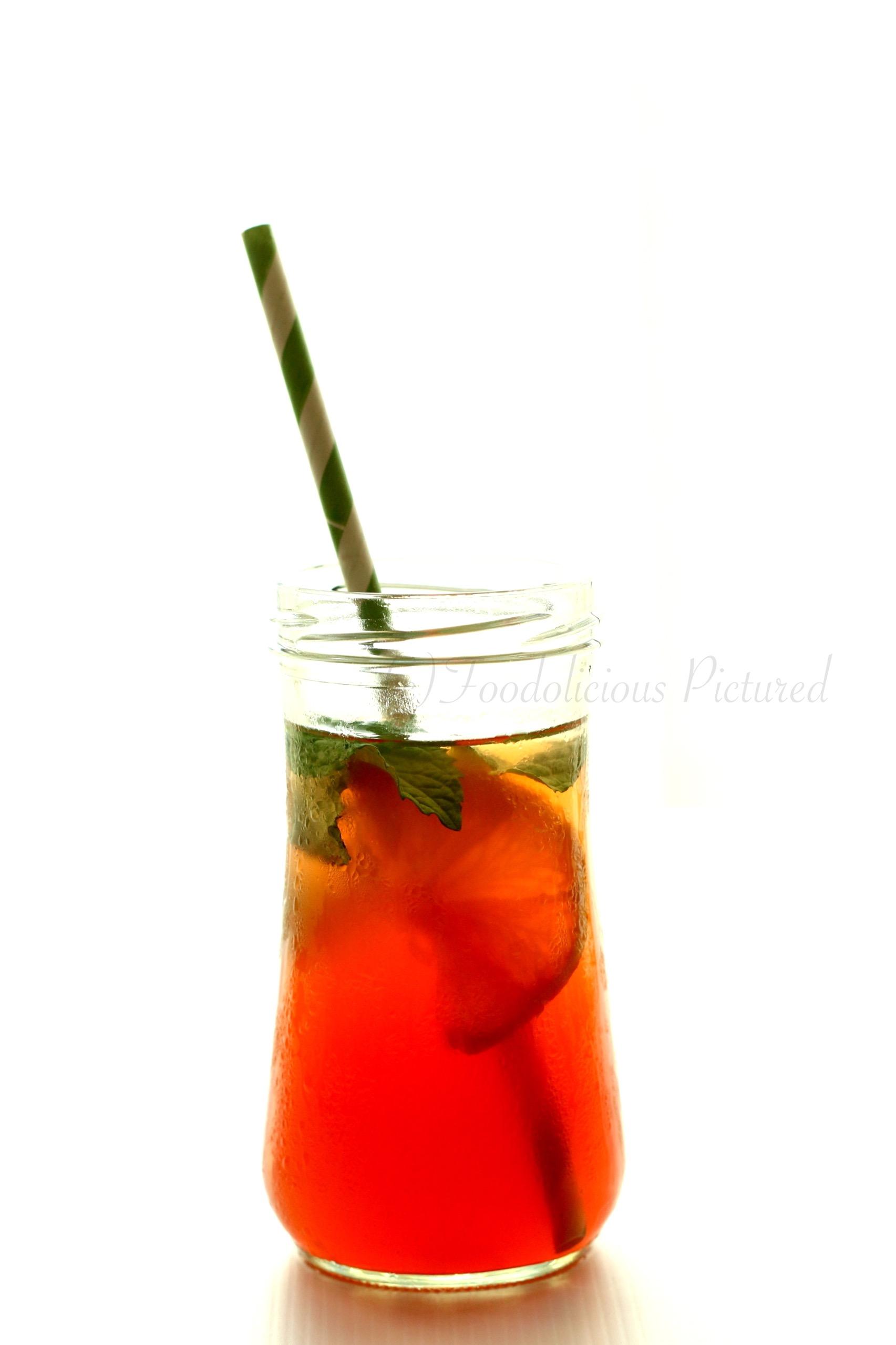 how to turn flavoured tea bag into ice tea